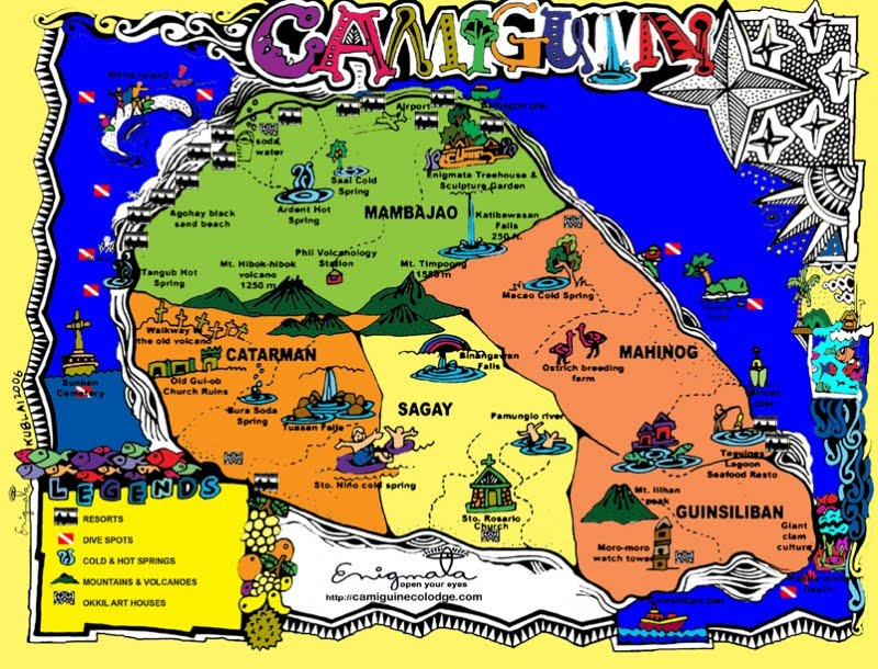 Camiguin spot map